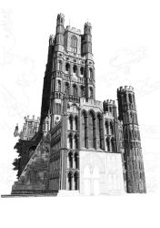 Ely Cathedral Drawing by ianmckendrick