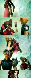 Aerith and Cloud by Lowenael