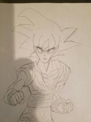 Goku drawing by UNB0LTED