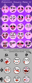 Pick from either expression meme by QueenStorm