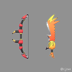 Tapu Bulu bow or Tapu Koko sword? by CJsux