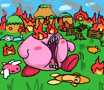 Evil Kirby Goes on a Rampage by Secksy-sensei