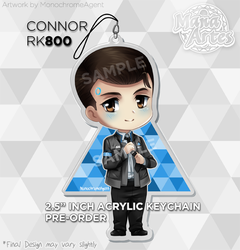 DBH Connor 2.5in acrylic charm by MonochromeAgent