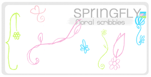 Floral Scribbles -Brushes by SaltedPanda