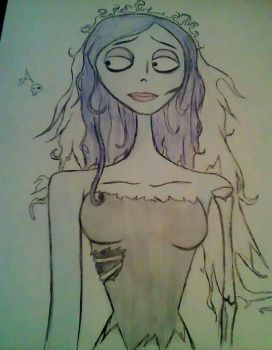 Inktober #1: Emily from Corpse Bride  by GameNot0ver