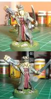 Female Commissar 40k by tave32