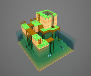 Voxel experiment 2 - original by AuraGoddess