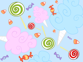 MLP Candy Vectored Wallpaper Commission by JuliefooDesigns