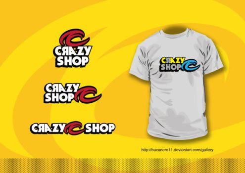 Crazy shop logo by bucanero11