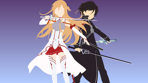 Kirito and Asuna from Sword Art Online by matsumayu