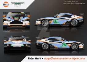Gulf A.M. Racing - V8 Vantage GTE Livery Concept by Kinpixed
