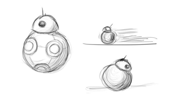 BB-8 Sketchdump by ShandrisCZ