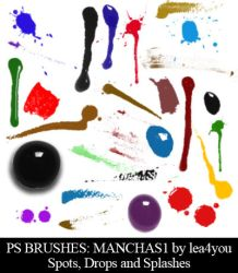 Manchas1 - Ps Brushes by lea4you