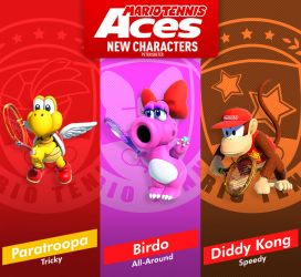 Mario Tennis Aces New Characters by PeterisBeter