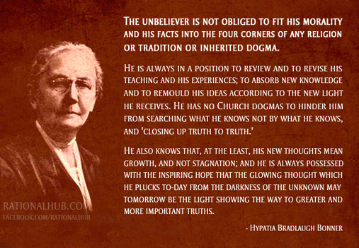 Hypatia Bradlaugh Bonner on  freethought.. by rationalhub