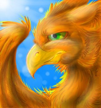 golden Gryphon by Saphizzle