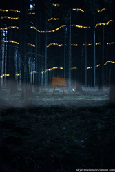 Easel In The Forest by Skye-Studios