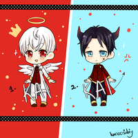 [ADOPT  250 pts ] Military Angel/Demon by kaisoosulay