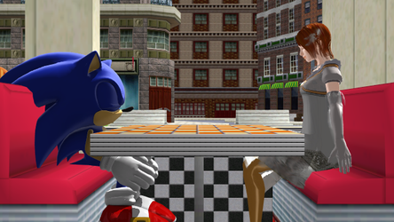 (MMD) Sonic and Elise Dating by Hyper-Mario-64