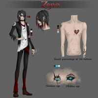 Zeno- Official Ref sheet by IvyDarkRose