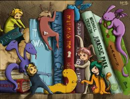 Meanwhile in my bookshelf - Colour by ArtPhish