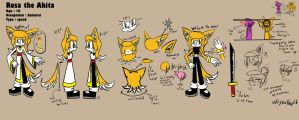 Rosa the Akita's reference (updated) by villyvalley16