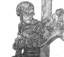 Mikey Way Pencil Drawing by aratithiliel