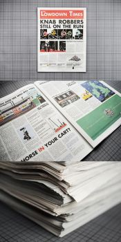 'The Lowdown Times' Newspaper by ThePpeGFX