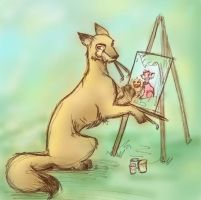 Neopets - Elazulis the Artist by kaiven