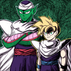 Piccolo and Gohan by SparkAdam
