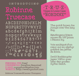 Robinne Truecase Font by nymphont