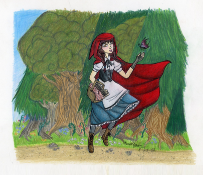 Red Riding Hood and the Butterfly by The-MAD-Overlord