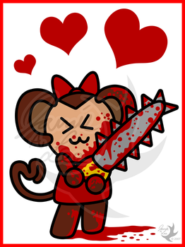 Chibi Chainsaw Monkey by Jammerlee