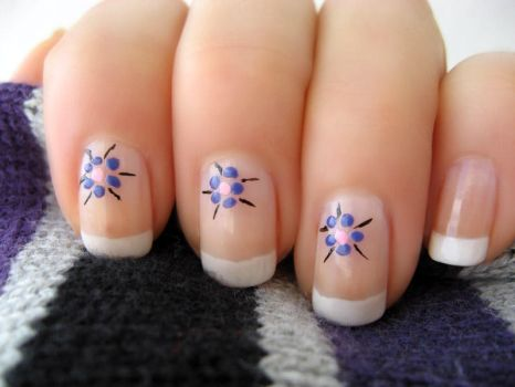 French Flower Manicure part 2 by xzibitka
