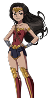 Loli Wonder Woman loves Justice by Glee-chan