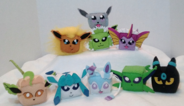 Pokecubes: Shiny Eeveelutions by beanchan
