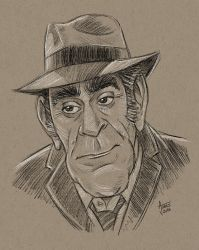 Abe Vigoda Caricature by AtlantaJones