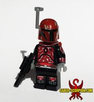 Crimson Mandalorian by Saber-Scorpion