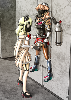 commission by toni babelony  Warspite gassing Zara by Spartan09