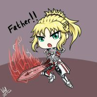 Chibi Mordred by Valignar-Malrune