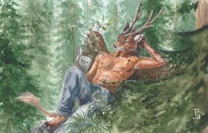Forest reading by TS-cat