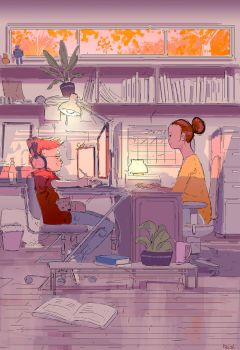 Home office by PascalCampion