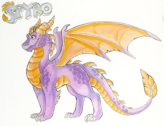 TLoS- Stronghold of Steel- Spyro Reference by Lucieniibi