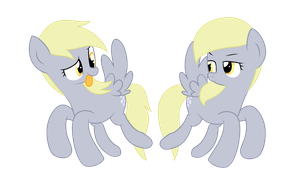 [My Little Pony] Derpy and Smarty Hooves by Frank-Seven