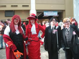 Madme, Grell, Ronald and William by corafreakshow