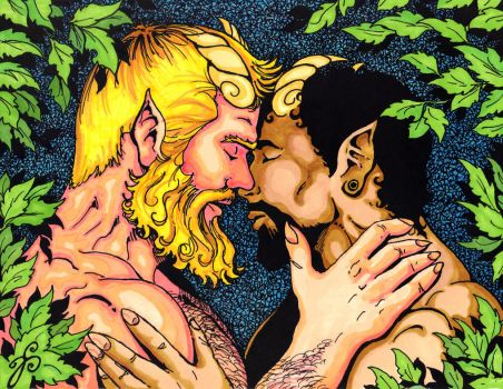 Kisses in the Garden, Color comp. by Dharmajon