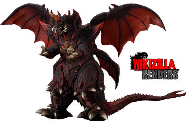 Destoroyah Perfect Form X-Plus Render by Wikizilla