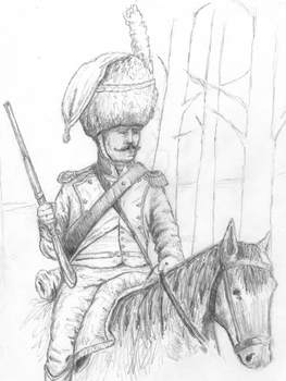 Ben Pook - Chasseur a Cheval. by pook1983