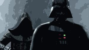 Vader and his Dark Apprentice by kaiser89