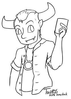MSPA: Tavros Coloring Page by SnapdragonSoda